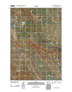 Elkhorn Creek SW Montana Historical topographic map, 1:24000 scale, 7.5 X 7.5 Minute, Year 2011