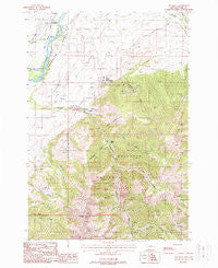 Emigrant Montana Historical topographic map, 1:24000 scale, 7.5 X 7.5 Minute, Year 1988