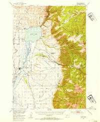 Ennis Montana Historical topographic map, 1:62500 scale, 15 X 15 Minute, Year 1949
