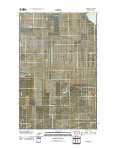 Ethridge Montana Historical topographic map, 1:24000 scale, 7.5 X 7.5 Minute, Year 2011