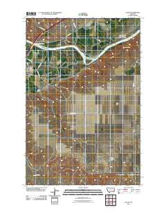 Fallon Montana Historical topographic map, 1:24000 scale, 7.5 X 7.5 Minute, Year 2011