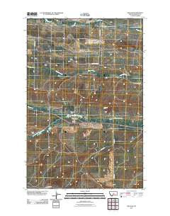 Fish Dam Montana Historical topographic map, 1:24000 scale, 7.5 X 7.5 Minute, Year 2011