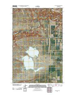 Flag Butte Montana Historical topographic map, 1:24000 scale, 7.5 X 7.5 Minute, Year 2011