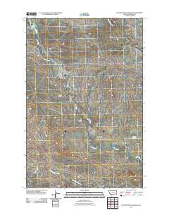 Flat Bottom Coulee SE Montana Historical topographic map, 1:24000 scale, 7.5 X 7.5 Minute, Year 2011