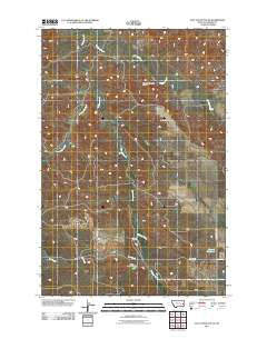 Flat Top Butte NE Montana Historical topographic map, 1:24000 scale, 7.5 X 7.5 Minute, Year 2011