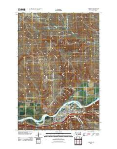 Forsyth Montana Historical topographic map, 1:24000 scale, 7.5 X 7.5 Minute, Year 2011