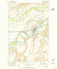 Fort Benton Montana Historical topographic map, 1:24000 scale, 7.5 X 7.5 Minute, Year 1954