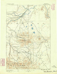 Fort Benton Montana Historical topographic map, 1:250000 scale, 1 X 1 Degree, Year 1890