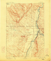 Fort Custer Montana Historical topographic map, 1:125000 scale, 30 X 30 Minute, Year 1894
