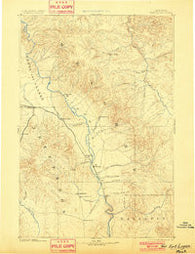 Fort Logan Montana Historical topographic map, 1:250000 scale, 1 X 1 Degree, Year 1886