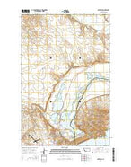 Fort Peck Montana Current topographic map, 1:24000 scale, 7.5 X 7.5 Minute, Year 2014 from Montana Map Store
