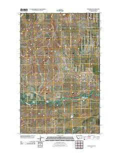 Fort Piegan Montana Historical topographic map, 1:24000 scale, 7.5 X 7.5 Minute, Year 2011