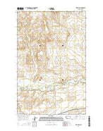 Fort Piegan Montana Current topographic map, 1:24000 scale, 7.5 X 7.5 Minute, Year 2014 from Montana Map Store