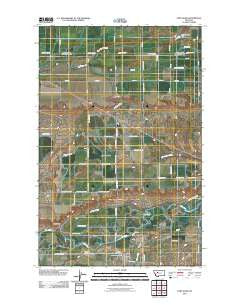 Fort Shaw Montana Historical topographic map, 1:24000 scale, 7.5 X 7.5 Minute, Year 2011
