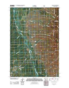 Fox Gulch Montana Historical topographic map, 1:24000 scale, 7.5 X 7.5 Minute, Year 2011