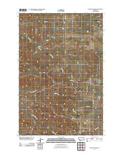 Freeman Creek Montana Historical topographic map, 1:24000 scale, 7.5 X 7.5 Minute, Year 2011