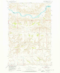 Gallatin Rapids Montana Historical topographic map, 1:24000 scale, 7.5 X 7.5 Minute, Year 1954