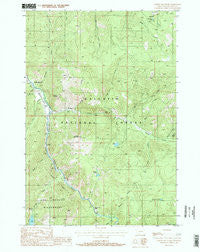 Garnet Mountain Montana Historical topographic map, 1:24000 scale, 7.5 X 7.5 Minute, Year 1988