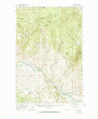 Garrison Montana Historical topographic map, 1:62500 scale, 15 X 15 Minute, Year 1958