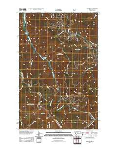 Gem Peak Montana Historical topographic map, 1:24000 scale, 7.5 X 7.5 Minute, Year 2011