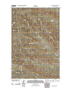 Gibson Coulee Montana Historical topographic map, 1:24000 scale, 7.5 X 7.5 Minute, Year 2011