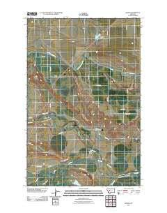 Gilman Montana Historical topographic map, 1:24000 scale, 7.5 X 7.5 Minute, Year 2011