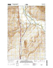 Glen Montana Current topographic map, 1:24000 scale, 7.5 X 7.5 Minute, Year 2014 from Montana Maps Store