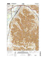 Glendive Montana Current topographic map, 1:24000 scale, 7.5 X 7.5 Minute, Year 2014 from Montana Maps Store
