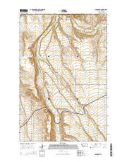 Glengarry Montana Current topographic map, 1:24000 scale, 7.5 X 7.5 Minute, Year 2014 from Montana Maps Store
