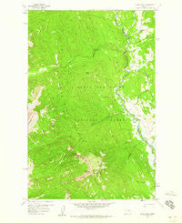 Glenn Creek Montana Historical topographic map, 1:24000 scale, 7.5 X 7.5 Minute, Year 1958