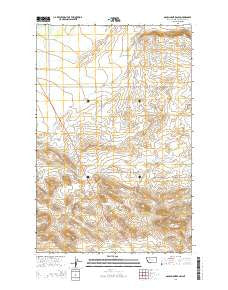 Gouchnour Ranch Montana Current topographic map, 1:24000 scale, 7.5 X 7.5 Minute, Year 2014