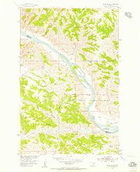 Grand Island Montana Historical topographic map, 1:24000 scale, 7.5 X 7.5 Minute, Year 1954