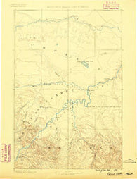 Great Falls Montana Historical topographic map, 1:250000 scale, 1 X 1 Degree, Year 1886