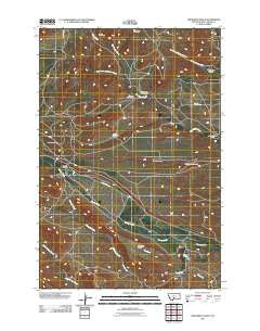 Grosfield Ranch Montana Historical topographic map, 1:24000 scale, 7.5 X 7.5 Minute, Year 2011