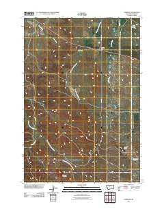 Hammond Montana Historical topographic map, 1:24000 scale, 7.5 X 7.5 Minute, Year 2011
