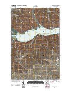 Hanson Flat Montana Historical topographic map, 1:24000 scale, 7.5 X 7.5 Minute, Year 2011