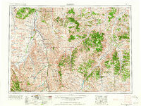 Hardin Montana Historical topographic map, 1:250000 scale, 1 X 2 Degree, Year 1954
