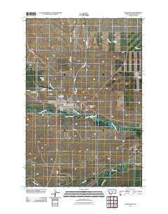 Harlowton Montana Historical topographic map, 1:24000 scale, 7.5 X 7.5 Minute, Year 2011
