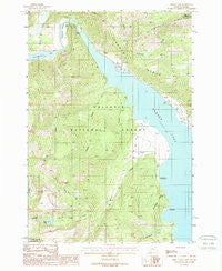 Hebgen Dam Montana Historical topographic map, 1:24000 scale, 7.5 X 7.5 Minute, Year 1988