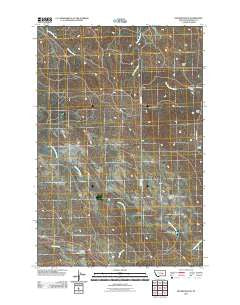 Hecker Ranch Montana Historical topographic map, 1:24000 scale, 7.5 X 7.5 Minute, Year 2011