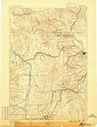 Helena Montana Historical topographic map, 1:250000 scale, 1 X 1 Degree, Year 1889