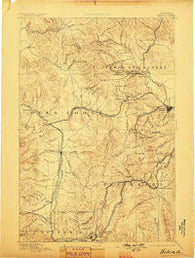 Helena Montana Historical topographic map, 1:250000 scale, 1 X 1 Degree, Year 1893