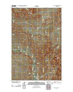 Henry Creek Montana Historical topographic map, 1:24000 scale, 7.5 X 7.5 Minute, Year 2011