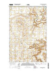 Hillside Colony Montana Current topographic map, 1:24000 scale, 7.5 X 7.5 Minute, Year 2014 from Montana Maps Store