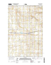 Hingham Montana Current topographic map, 1:24000 scale, 7.5 X 7.5 Minute, Year 2014 from Montana Maps Store