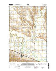 Hinsdale Montana Current topographic map, 1:24000 scale, 7.5 X 7.5 Minute, Year 2014 from Montana Maps Store