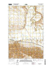 Hinsdale NW Montana Current topographic map, 1:24000 scale, 7.5 X 7.5 Minute, Year 2014 from Montana Maps Store