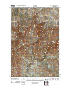 Hole-in-the-Rock Montana Historical topographic map, 1:24000 scale, 7.5 X 7.5 Minute, Year 2011
