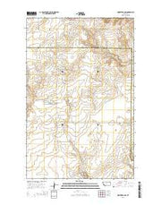 Homestead NW Montana Current topographic map, 1:24000 scale, 7.5 X 7.5 Minute, Year 2014 from Montana Maps Store