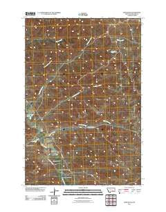 Hope Ranch Montana Historical topographic map, 1:24000 scale, 7.5 X 7.5 Minute, Year 2011